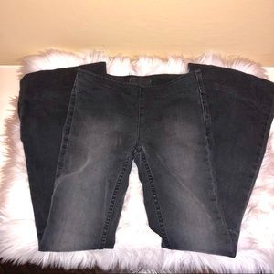 Free people flare stretch jeans. Size 24.